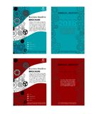 Business brochure design 2 colors available with gear. Business brochure design, available in vector .ai format and 2 colors with gears Royalty Free Stock Photo
