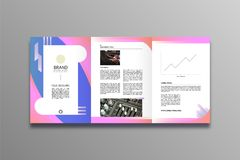 Business brochure design Stylish and modern style stock illustration