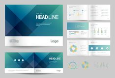 Business brochure design template and page layout for company profile, annual report,. With page cover design background vector illustration