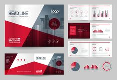 Business brochure design template and page layout for company profile, annual report,. With page cover design background Royalty Free Stock Photo