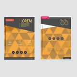 Business brochure design template in A4 size, with triangular  background Royalty Free Stock Photography