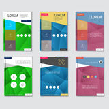 Business brochure design template in A4 size, with triangular  background Royalty Free Stock Image