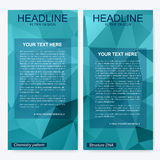 Business brochure design template. Vector flyer layout, abstract colorful polygonal background, leaflet, cover, poster. Business brochure design template Royalty Free Stock Image