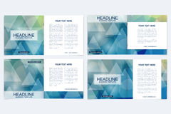 Business brochure design template. Vector flyer layout, abstract colorful polygonal background, leaflet, cover, poster. Business brochure design template Stock Photography