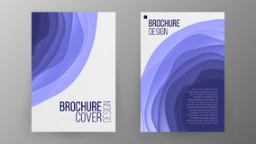 Business Brochure Design Vector. Cover Design Layout. Paper Cut Brochure. Ilustration Stock Image