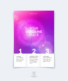 Business brochure, flyer and cover design layout template with p Stock Photos