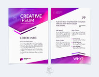 Business brochure, flyer and cover design layout template with r Royalty Free Stock Image