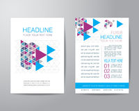 Business brochure flyer design layout template in A4 size, with Royalty Free Stock Photography
