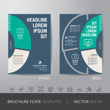 Business brochure flyer design layout template in A4 size, with Stock Images