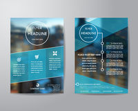 Business brochure flyer design layout template in A4 size, with. Blur background, vector eps10 Royalty Free Stock Image