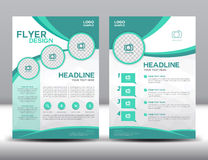 Business brochure flyer design layout template in A4 size. Green brochure template,cover design,Front page and back page,infographic Stock Image