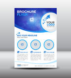 Business brochure flyer design layout template in A4 size. Newsletter Leaflet poster flyer layout vector, geometrical background Stock Image