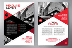 Free Business Brochure. Flyer Design. Leaflets A4 Template. Cover Boo Stock Images - 98440404