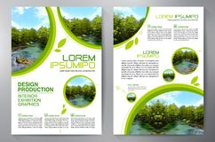 Business Brochure. Flyer Design. Leaflets a4 Template. royalty free illustration
