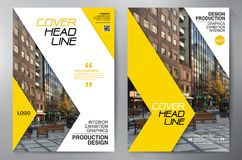 Business Brochure. Flyer Design. Leaflets a4 Template. Cover Boo. K and Magazine. Annual Report Vector illustration Stock Images