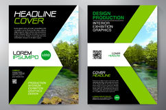 Business Brochure. Flyer Design. Leaflets a4 Template. Cover Boo. K and Magazine. Annual Report Vector illustration vector illustration