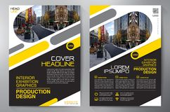 Business Brochure. Flyer Design. Leaflets a4 Template. Cover Boo. K and Magazine. Annual Report Vector illustration royalty free illustration