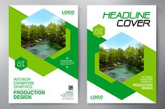 Business Brochure. Flyer Design. Leaflets a4 Template. Cover Boo stock illustration