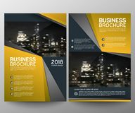 Business brochure flyer design template. Annual report. Leaflet cover presentation abstract geometric background, modern. Publication poster magazine, layout in royalty free illustration