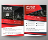 Business brochure flyer design template. Annual report. Leaflet cover presentation abstract geometric background, modern stock photos