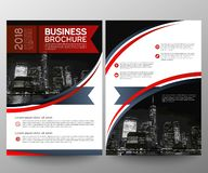 Business brochure flyer design template. Annual report. Leaflet cover presentation abstract geometric background, modern stock image