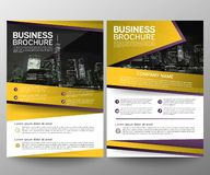 Business brochure flyer design template. Annual report. Leaflet cover presentation abstract geometric background, modern. Publication poster magazine, layout in stock illustration