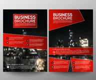 Business brochure flyer design template. Annual report. Leaflet cover presentation abstract geometric background, modern royalty free stock image
