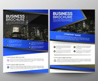 Business brochure flyer design template. Annual report. Leaflet cover presentation abstract geometric background, modern stock images