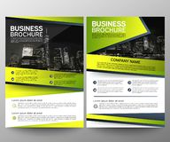 Business brochure flyer design template. Annual report. Leaflet cover presentation abstract geometric background, modern royalty free stock photography
