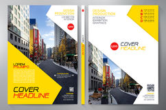 Business brochure flyer design a4 template. Royalty Free Stock Photography