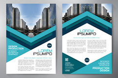 Business brochure flyer design a4 template. Royalty Free Stock Image