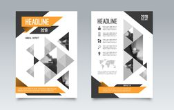 Business brochure flyer layout template. Can be used for cover, book, magazine, booklet, leaflet. A4 size. Vector illustration Royalty Free Stock Photos