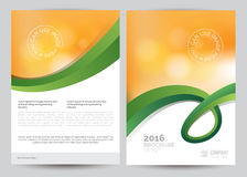 A4 Business Brochure Flyer Layout Template. Vector A4 Business Brochure Flyer Layout Template Royalty Free Stock Image