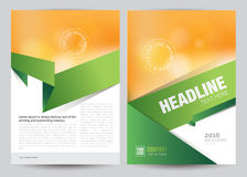 A4 Business Brochure Flyer Layout Template. Vector A4 Business Brochure Flyer Layout Template Royalty Free Stock Photography