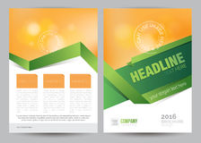 A4 Business Brochure Flyer Layout Template. Vector A4 Business Brochure Flyer Layout Template Stock Images