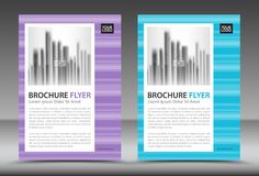 Business brochure flyer template, annual report, cover design Stock Photography