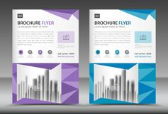 Business brochure flyer template, annual report, cover design Royalty Free Stock Photography