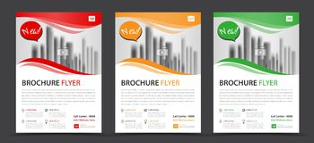 Business brochure flyer template, annual report, cover design. Layout Stock Image