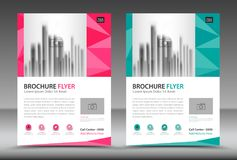 Business brochure flyer template, annual report, cover design Stock Photo