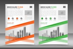 Business brochure flyer template, annual report, cover design Stock Images