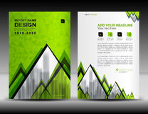 Business brochure flyer template in A4 size, Green Cover design. Annual report, magazine ads, catalog, advertisement vector Stock Photo