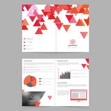 Business Brochure with geometric triangles. Royalty Free Stock Photo