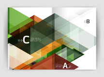 Business brochure or leaflet A4 cover template Royalty Free Stock Photography