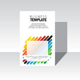 Business brochure, leaflet, poster template vector. stock-vector Royalty Free Stock Images