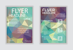 Business Brochure & Poster Template vector Royalty Free Stock Photography