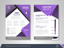 Business brochure purple Royalty Free Stock Photography