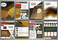 Business brochure template, abstract concept infographics and ic Stock Photography