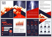 Business brochure template. Annual report corporate documents magazine or catalogue cover pages vector design. Illustration of report annual marketing, booklet vector illustration
