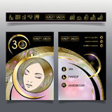 Business brochure-template for beauty salons and hairdressing_4 Royalty Free Stock Images