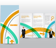 Business brochure. Template with business figures Stock Illustration